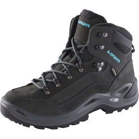 Lowa Renegade GTX Mid Shoes Women, anthracite/turquoise